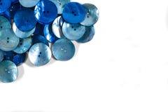 Boutons bleus Photographie stock libre de droits