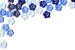 Boutons bleus Photos stock