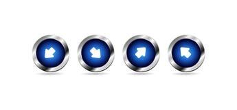Boutons bleus brillants de Web de vecteur illustration libre de droits