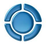 Boutons bleus de contrôle de joueur Photos stock