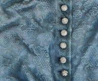 Boutons bleus de lacet et de diamant Photos libres de droits