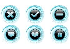 Boutons bleus de vecteur Photo stock