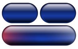 Boutons bleus de Web Photographie stock