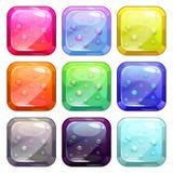 Boutons brillants colorés de fantaisie illustration de vecteur