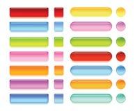 Boutons brillants de Web Image stock