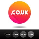 Boutons BRITANNIQUES de signe du domaine Co 5 symboles supérieurs de domaine d'Internet de vecteur d'icônes Photographie stock