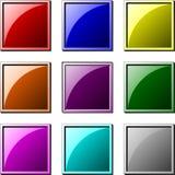 Boutons carrés Photo libre de droits