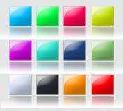 Boutons carrés colorés Images stock