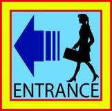 Boutons carrés d'entrée porte de signe avec l'humain Photographie stock