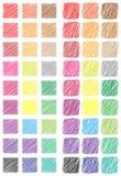 Boutons carrés hachés de Web Photo stock