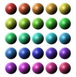 Boutons circulaires illustration de vecteur