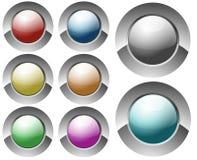 Boutons circulaires lustrés Images libres de droits