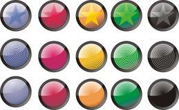 Boutons colorés Image libre de droits