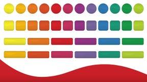 Boutons colorés illustration de vecteur