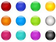 Boutons colorés Photos stock