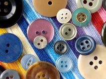 Boutons colorés Photographie stock