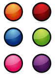 Boutons colorés illustration de vecteur