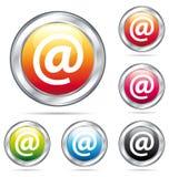 Boutons colorés d'email address. Photographie stock libre de droits