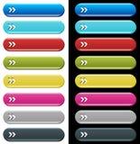 Boutons colorés de site Web Photo stock
