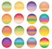 Boutons colorés de Web photographie stock libre de droits