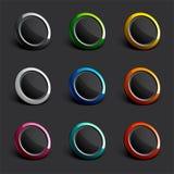 Boutons colorés de Web Images stock