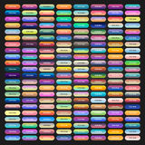 Boutons colorés de Web avec différents gradients Photos libres de droits