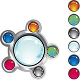 Boutons colorés de Web d'imagination Photo libre de droits