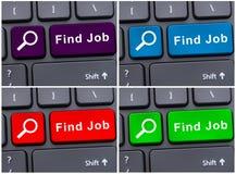 Boutons colorés du travail de découverte sur le clavier Photographie stock libre de droits