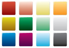 Boutons colorés libres réglés. illustration stock