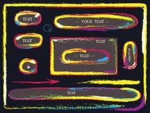 Boutons colorés occasionnels abstraits Photo libre de droits