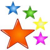 Boutons colorés par étoile Illustration Stock