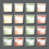 Boutons colorés. Vecteur. Photo stock