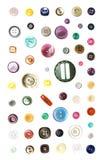 Boutons colorés Images stock
