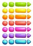 Boutons colorés de gelée de vecteur de bande dessinée drôle Image libre de droits