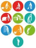 Boutons commerciaux de nettoyage Photographie stock libre de droits
