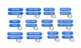 Boutons commerciaux de site Web illustration de vecteur