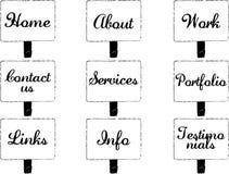 boutons créateurs de navigation   Illustration de Vecteur