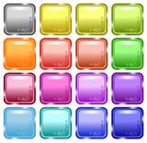 Boutons décorés lustrés de Web Photographie stock