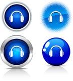 Boutons d'écouteurs. Image libre de droits