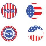 Boutons d'élection des Etats-Unis Photo libre de droits