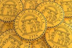 Boutons d'état d'USA : Pile d'illustration de Georgia Seal Badges 3d illustration de vecteur