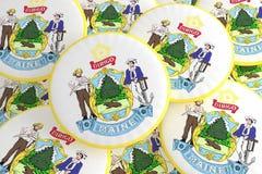 Boutons d'état d'USA : Pile d'illustration de Maine Seal Badges 3d illustration libre de droits