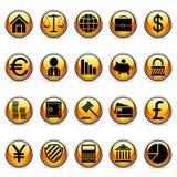 Boutons d'affaires et de finances de vecteur. Photos libres de droits