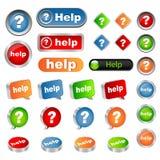 Boutons d'aide Image libre de droits