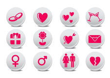 Boutons d'amour illustration libre de droits