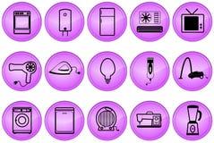 Boutons d'appareils ménagers Image stock