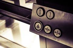 Boutons d'ascenseur à l'intérieur photographie stock