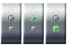 Boutons d'ascenseur Photographie stock