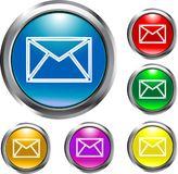 Boutons d'email Photographie stock