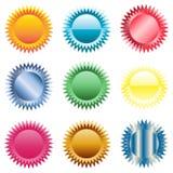 Boutons d'étoile, insignes Image stock